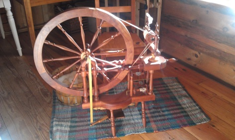 Reproduction of a Norwegian spinning wheel.