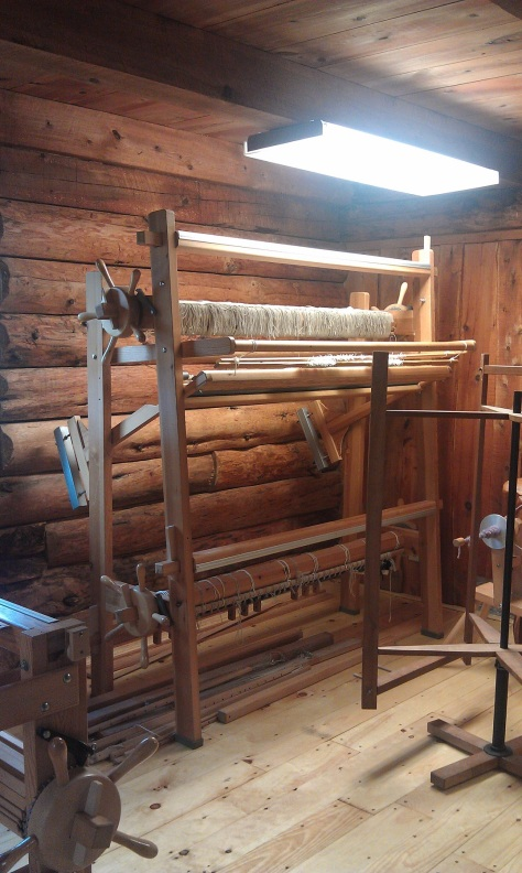 Glimakra Regina tapestry/rug loom in the studio.