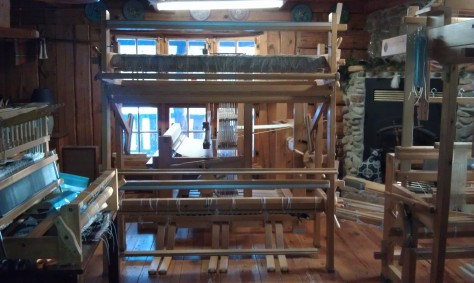 Glimakra Regina (vertical) tapestry/rug loom, now assembled in the studio.