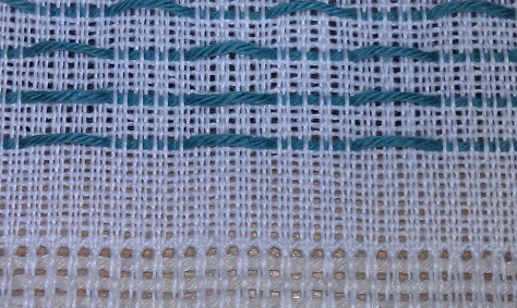 Hemstitching on the loom.