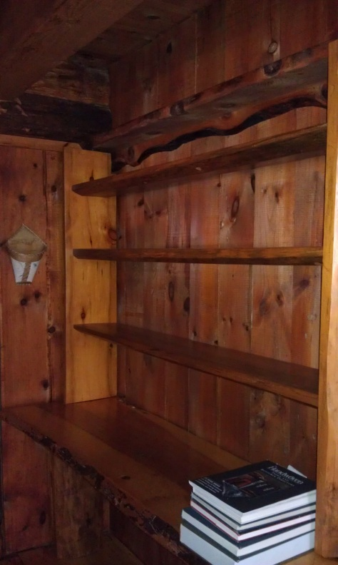 Another bookcase was moved, temporarily.