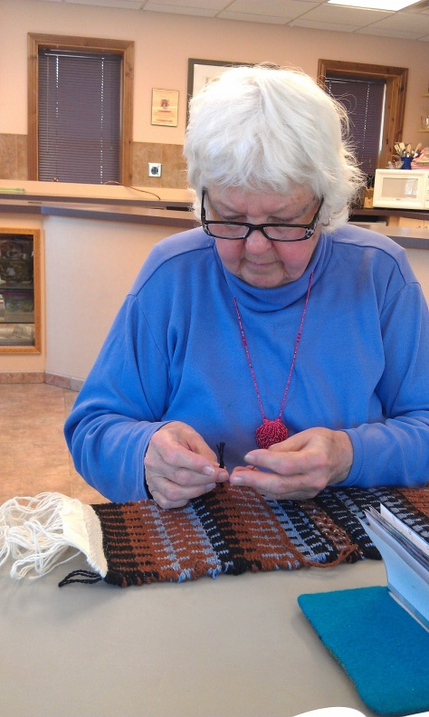 Louise Engelbrecht, artist and weaver.
