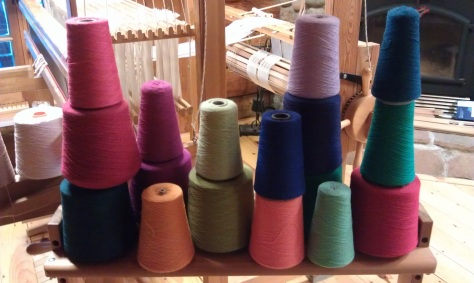 Sock colors pulled for an order of 8 pairs.