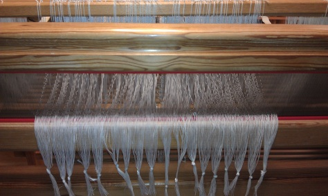 Warp threaded and sleyed.