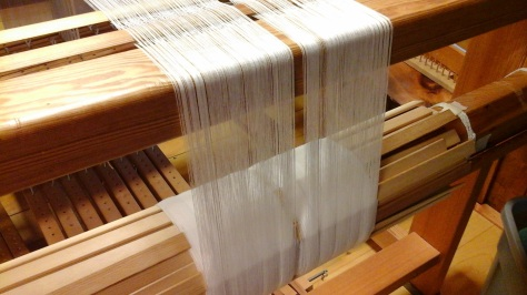 New 15 yard warp of 16/2 cotton.