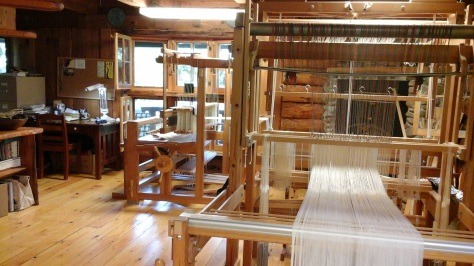 Studio view looking south to the loom where I spend a lot of time.