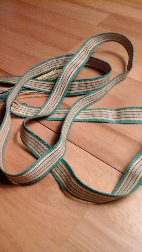 Cotton band woven on Glimakra bandloom.
